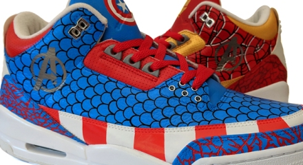 new arrival 80b15 19427 Up today is a new custom Air Jordan III themed after the Avengers and 2 of  the clients favorites characters, Ironman and Captain America
